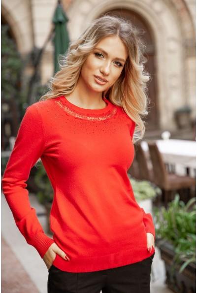 Свитер женский 131R5516 цвет Красный
