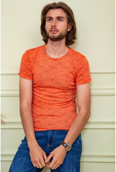 Футболка мужская 116R102 цвет Оранжевый 59508