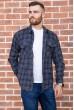 Купить Рубашка мужская фланелевая  цвет синий 129R16114 67227