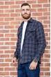 Рубашка мужская фланелевая  цвет синий 129R16114 стоимость