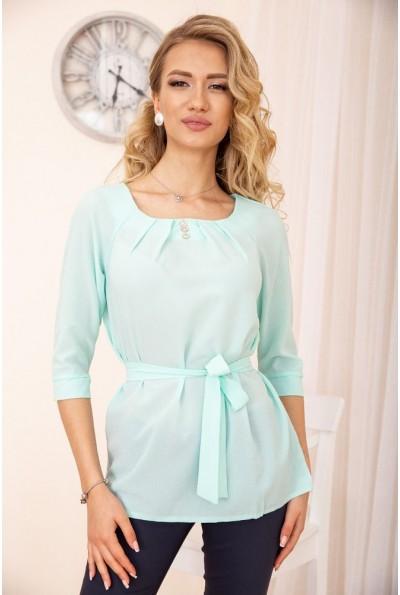 Блузка с рукавами 3/4 и поясом цвет Мятный 172R1-1 54924