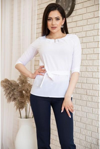 Блузка с рукавами 3/4 и поясом цвет Белый 172R1-1 54916