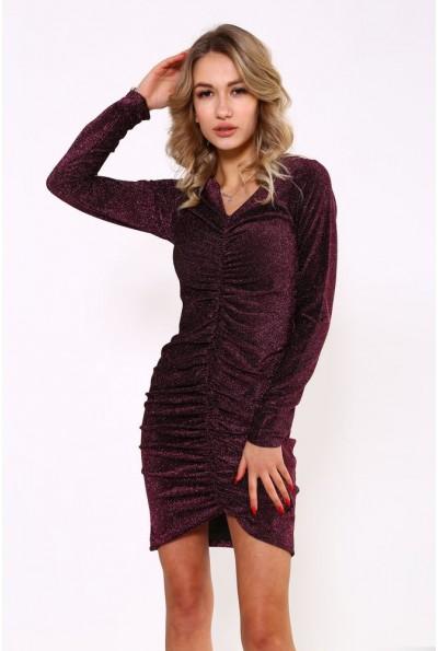 Платье женское 115R351 цвет Бордовый