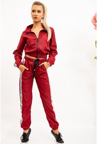 Спорт костюм женский 103R069 цвет Бордовый