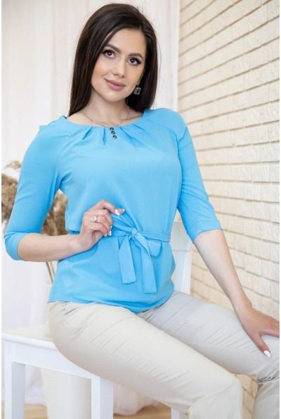Блузка с рукавами 3/4 и поясом цвет Голубой 172R1-1 54918