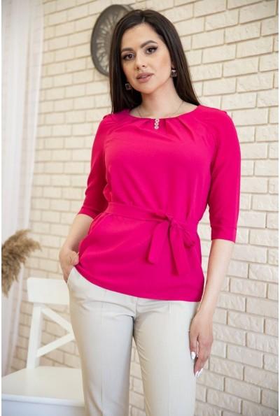 Блузка с рукавами 3/4 и поясом цвет Малиновый 172R1-1 54922