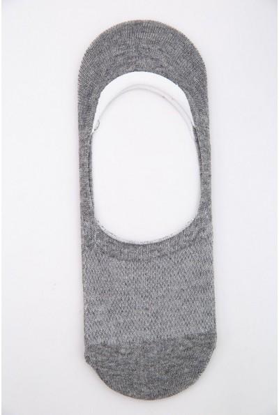 Следы мужские с силиконом на пятке 151R014 цвет Серый