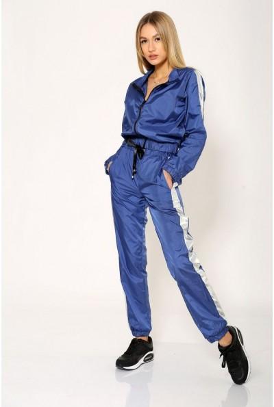 Костюм спортивный женский синий из плащевки 103R069