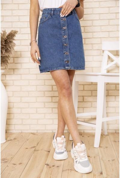 Юбка женская джинсовая 129R028-054 цвет Синий
