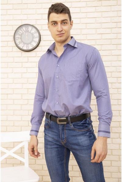 Рубашка мужская сиреневая деловой стиль 5-9060-9