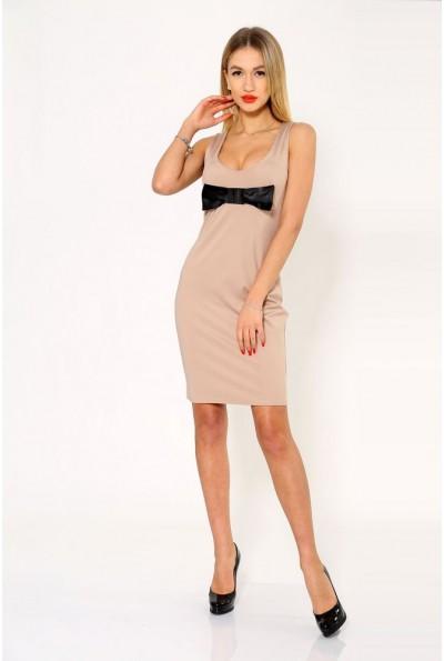 Платье женское 104R1217 цвет Бежевый