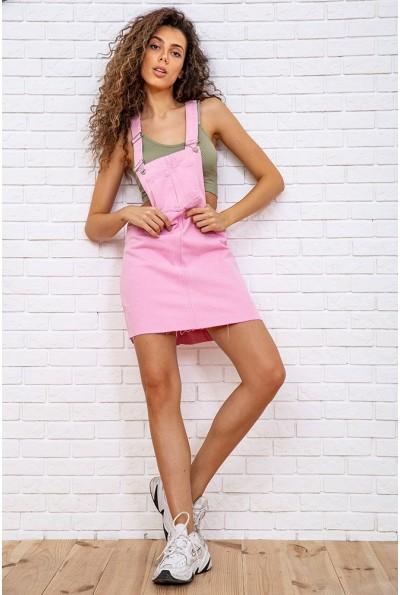 Джинсовый  сарафан 129R2913 цвет Розовый 59812
