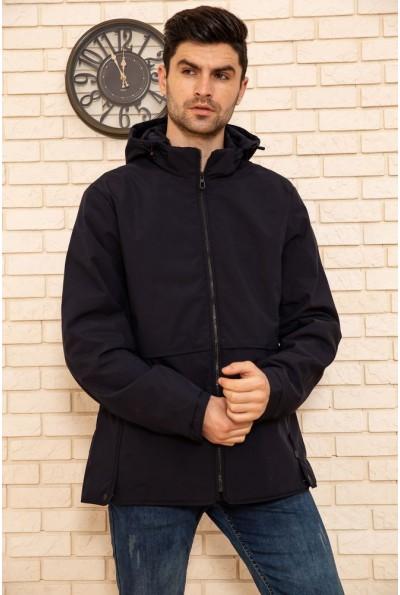 Куртка мужская с капюшоном демисезонная цвет Синий 129R8801 51129