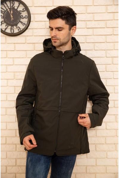Куртка мужская с капюшоном демисезонная цвет Хаки 129R8801