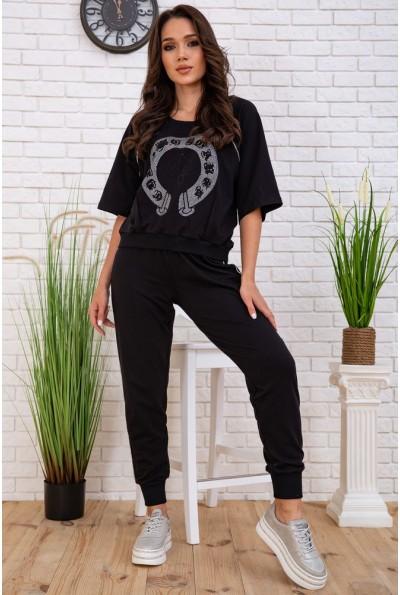 Спортивный костюм женский 167R2-10 цвет Черный 58101