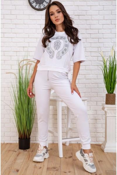 Спортивный костюм женский 167R2-10 цвет Белый 58099