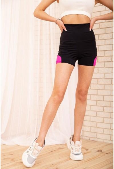 Велотреки женские для спорта 172R1241 цвет Черно-розовый 57194