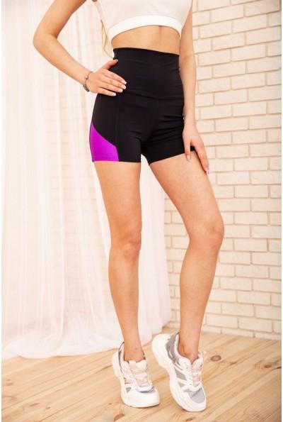 Велотреки женские для спорта 172R1241 цвет Черно-фиолетовый 57196