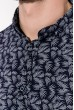 Рубашка мужская темно-синяя с длинными рукавами 511F005-2 цена 179.0000 грн