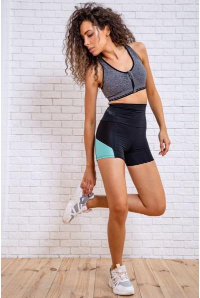 Велотреки женские для спорта 172R1241 цвет Черно-мятный 62572