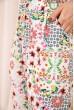 Летние хлопковые штаны с цветочным принтом цвет Бело-пудровый 172R69-1 скидка