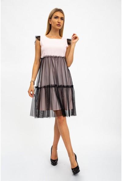Платье женское 119R287 цвет Персиково-черный