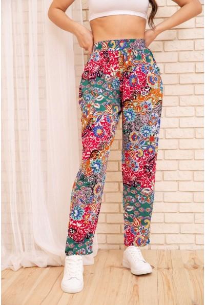 Летние хлопковые штаны с цветочным принтом Разноцветный 172R69-1 55061