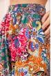 Летние хлопковые штаны с цветочным принтом Разноцветный 172R69-1 скидка