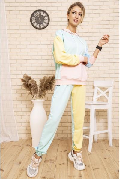 Спортивный костюм женский разноцветный цвет Мятно--желтый 103R197