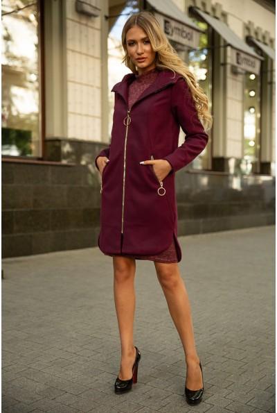 Пальто женское 153R968 цвет Сливовый