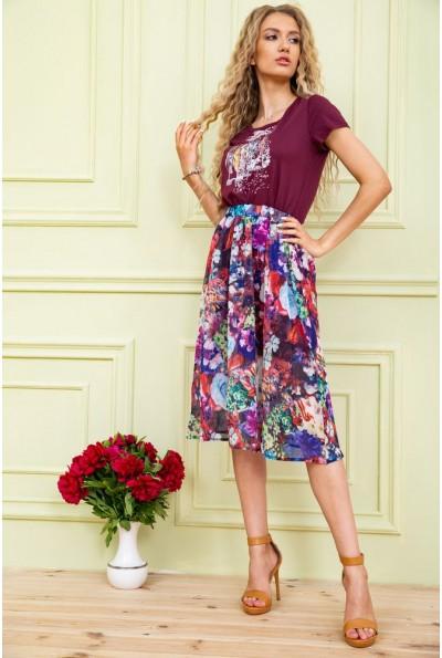 Платье женское  цвет бордовый 119R0419 58491