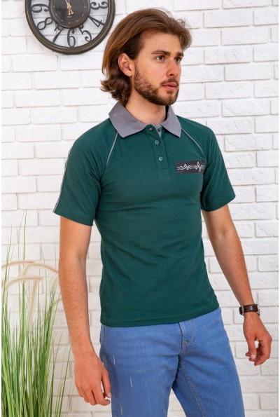 Поло мужское  167R121 цвет Зеленый 57680
