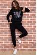 Спорт костюм женский  цвет черный 167R618-1 недорого