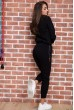 Спорт костюм женский  цвет черный 167R618-1 скидка
