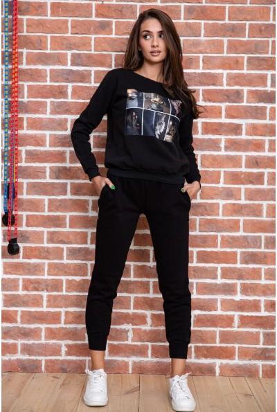 Спорт костюм женский  цвет черный 167R618-1 66034