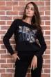 Спорт костюм женский  цвет черный 167R618-1 акция
