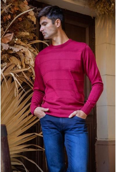 Джемпер мужской 154R2030 цвет Бордовый 40111