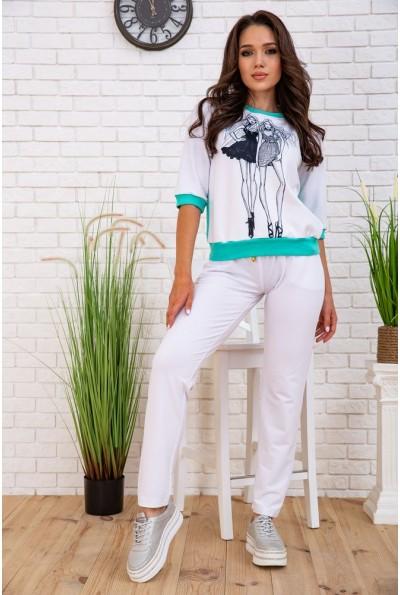 Летний костюм женский прогулочный цвет Мятно-белый 167R130 57694