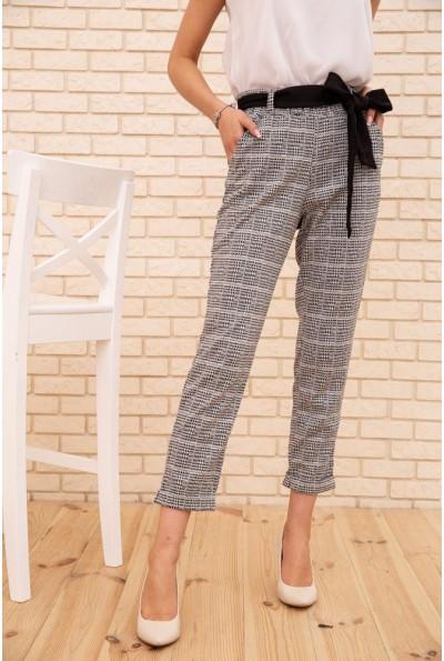 Женские укороченные брюки в клетку цвет Серый 172R9313-3 56087