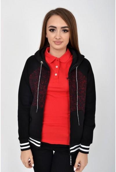 Спортивная кофта  119R006(409) цвет Черно-бордовый