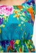 Сарафан женский голубой с декором вензеля 115R207-1 цена 259.0000 грн