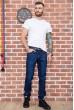 Джинсы мужские  на флисе  цвет темно-синий 129R3024 недорого