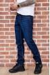 Джинсы мужские  на флисе  цвет темно-синий 129R3024 стоимость