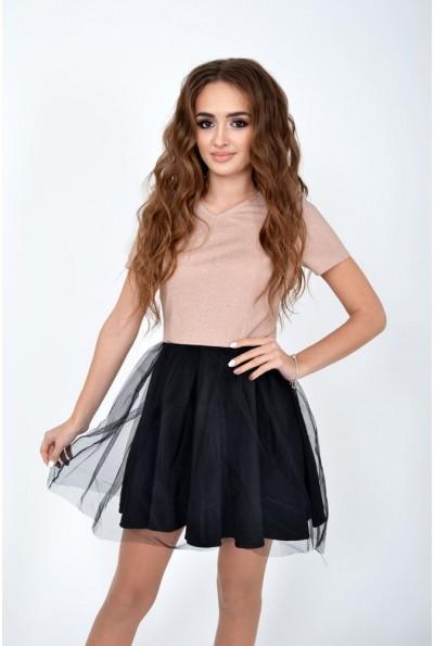 Платье женское 104R1308 цвет Бежевый