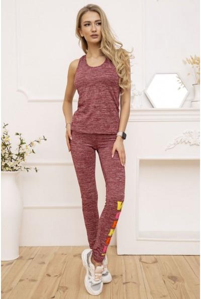 Костюм женский Майка и Лосины цвет Бордовый меланж 131R130112