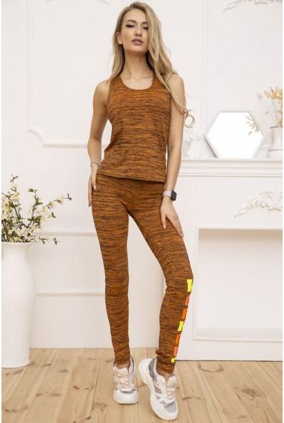 Костюм женский Майка и Лосины цвет Оранжевый меланж 131R130112 53258