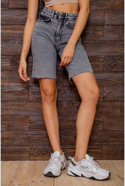 Джинсовые шорты женские  цвет серый 129R4043-15 63157