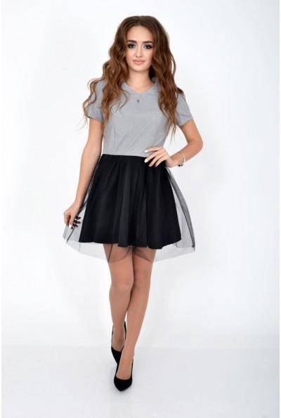 Платье женское 104R1308 цвет Серебристый