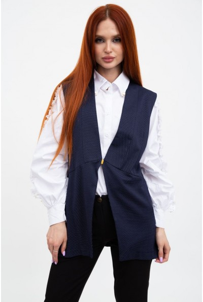 Жилет-кардиган женский офисный стиль темно-синий 115R253W