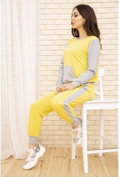 Женский прогулочный костюм цвет Желтый 167R7-1